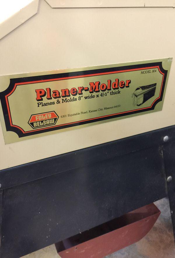 Foley Belsaw Planer Molder Model 804