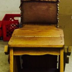 Chair Step Stool Ironing Board Design Black Antique The Jefferson Bachelor S Ladder Rare