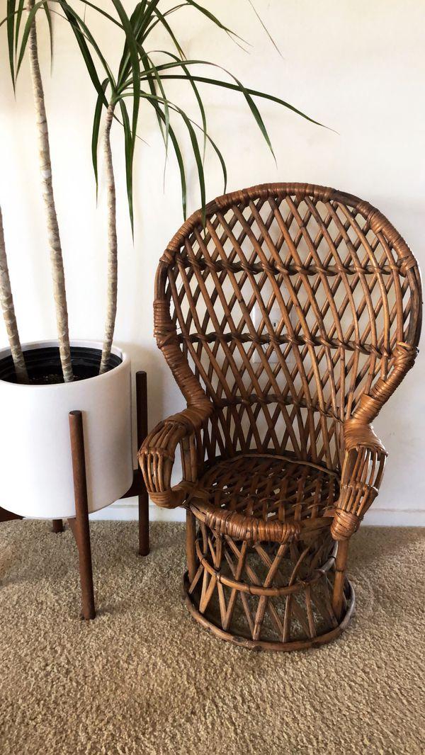 rattan peacock chair gaming buy vintage toddler for sale in costa mesa ca
