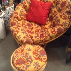 Papasan Chair Ottoman Boon Flair Pedestal High With And Matching Pillow For Sale In Sioux