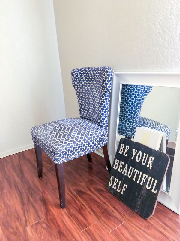 blue pattern accent chair desk cb2 for sale in pantego tx offerup