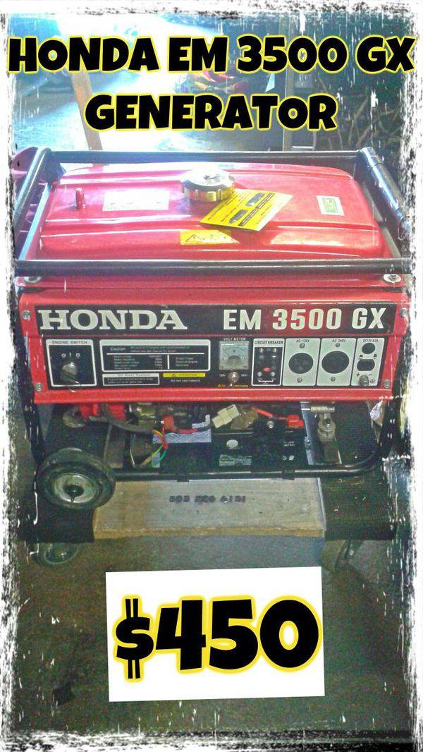 Honda EM 3500 GX Generator for Sale in Kent, WA - OfferUp