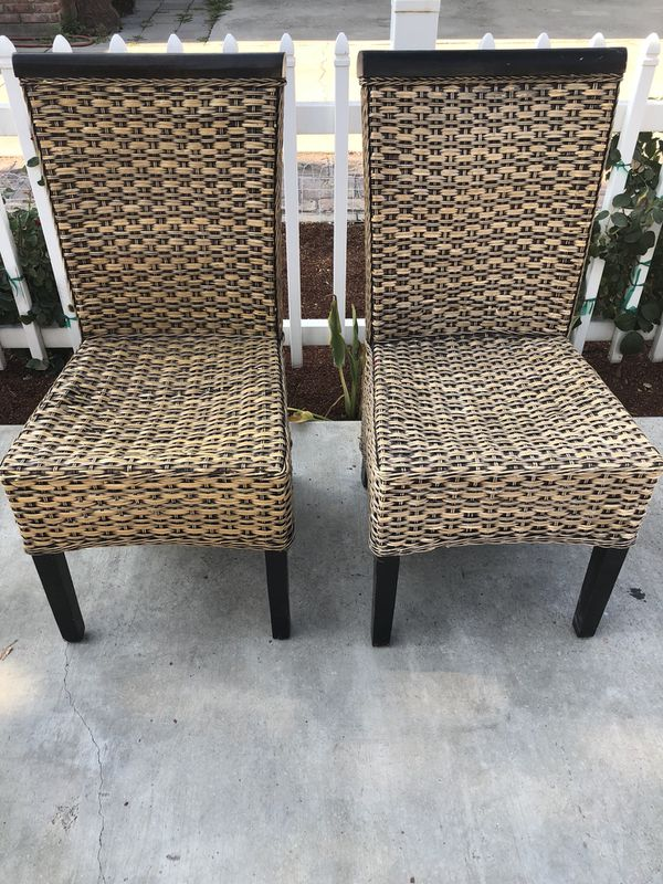 wicker chairs for sale black and white office chair in visalia ca offerup