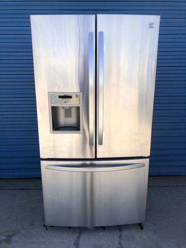 Kenmore French Door Stainless Steel Refrigerator 30 DAY WARRANTY For Sale In Tucson AZ OfferUp