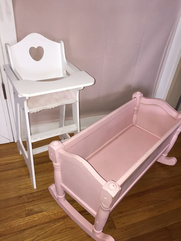 baby toy high chair set revolving accessories crib doll for sale in