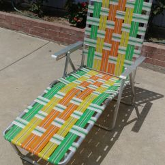 Webbed Chaise Lounge Chairs Chair Covers For Hire Hull Vintage Sale In Westminster Ca