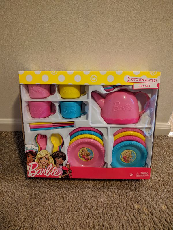 barbie kitchen playset islands ideas tea set for sale in auburn wa offerup