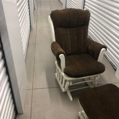 Rocker Glider Chair High Decorations 1st Birthday Boy Dutalier And Ottoman For Sale In Phoenix Az Offerup