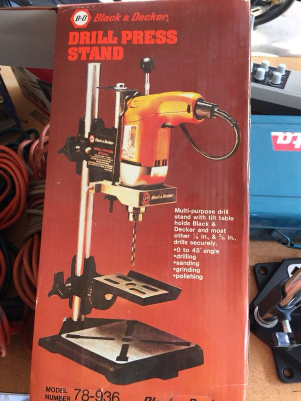 Black And Decker Drill Press Stand