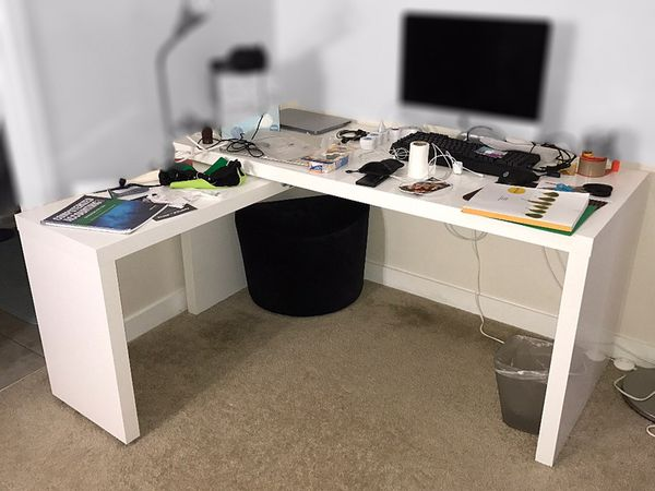 IKEA MALM Desk wPullOut Panel in White color  DRAWER