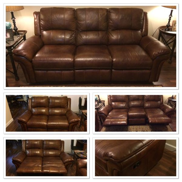 leather sofas tampa costco living room sectional sofa havertys payton cognac reclining loveseat for sale in