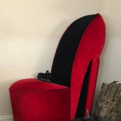 Red Heel Chair Folding Lawn Chairs Cute High For Sale In Lakeside Ca Offerup