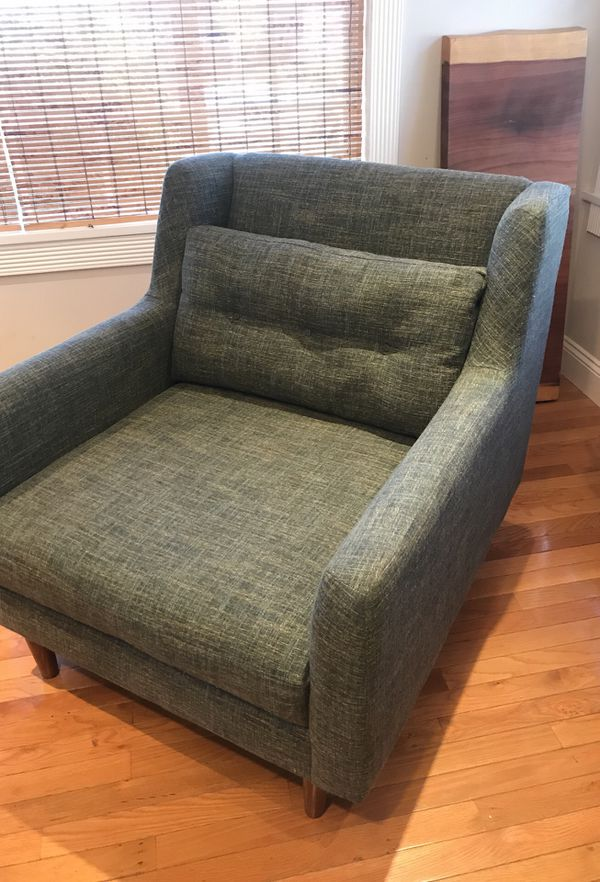 west elm crosby chair does medicare cover lift chairs 55 off retail heathered tweed armchair retro and deep