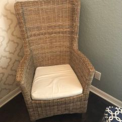 Wicker Wingback Chairs Doll High Chair And Accessories Set 2 For Sale In Delray Beach Fl Offerup