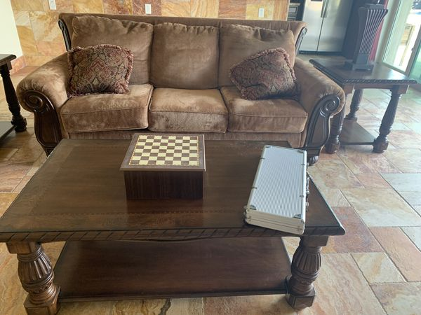 formal living room end tables modern with dark wood floors ashley furniture set 2 sofa table and coffee love seat full couch barely used in 650 takes