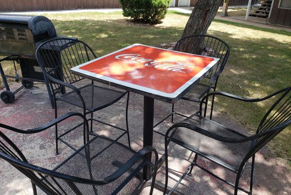 coca cola chairs and tables chair ottoman cover set nostalgic iron table collectibles in alamo heights tx offerup