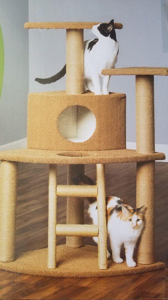 Whisker City Cat Tree : whisker, Deluxe, Home., Tower, (Brand, Unopened), Richboro,, OfferUp
