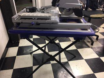wet dry tabletop sliding tile saw