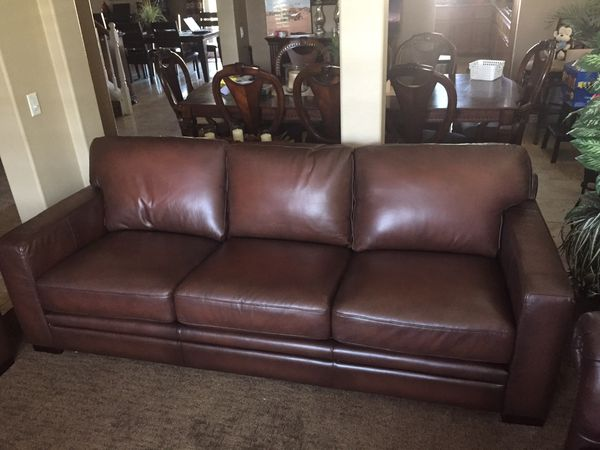 Luca 2 Piece Leather Sofa Set New For Sale In Corona CA OfferUp