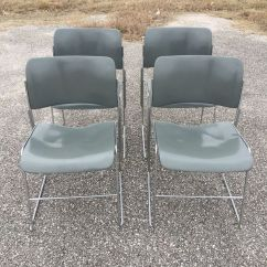 David Rowland Metal Chair Sure Fit Slipcovers Wing 1960s Mid Century Modern Designer Chairs Set Of 4 For