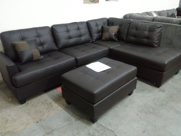 sectional sofa san antonio man cave furniture new with ottoman nuevo de esquina in tx offerup
