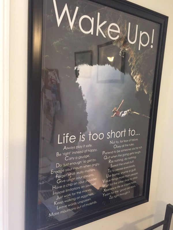 motivation poster with frame