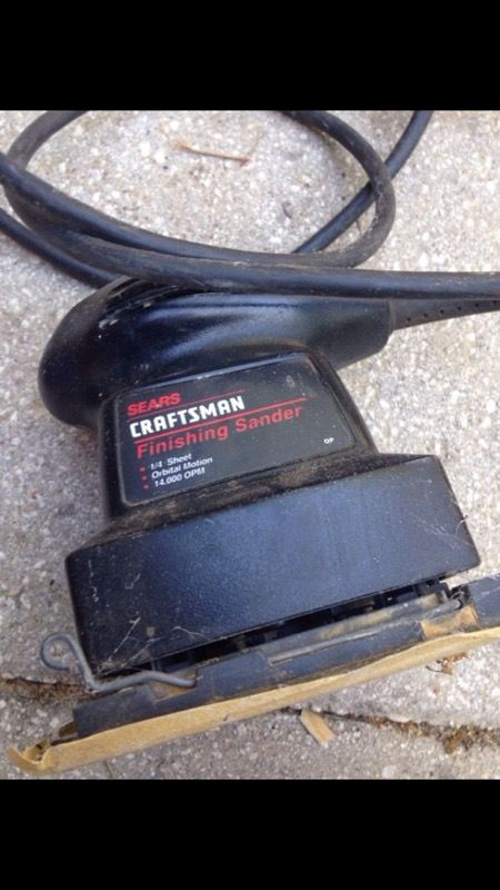 Craftsman Orbital Sander Model 315