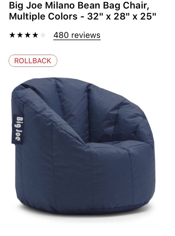 big joe milano bean bag chair best ergonomic chairs under 500 32 x 28 25 for sale in corona