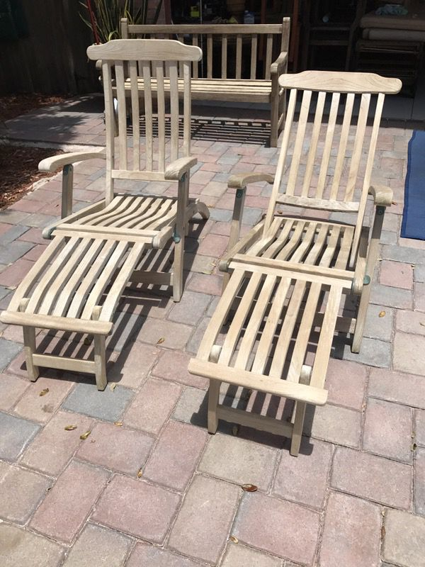 teak steamer chair red office gloster chairs for sale in boca raton fl offerup