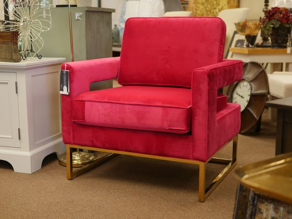 velvet armchair pink reclining rocking chair with ottoman red gold base for sale in lee s summit mo