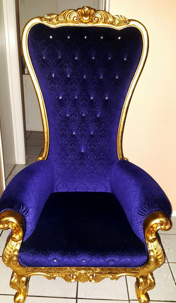Throne royalty king royal chair for Sale in Fontana CA