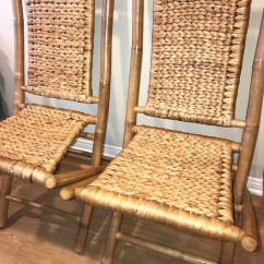 Bamboo Folding Chair Ergonomic Features 2 Chairs Furniture In Irvine Ca Offerup