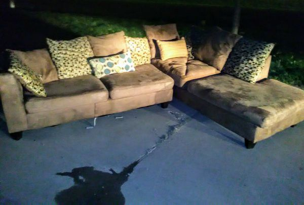 nice ashley furniture microfiber chaise lounge sectional couch for sale in san antonio tx offerup