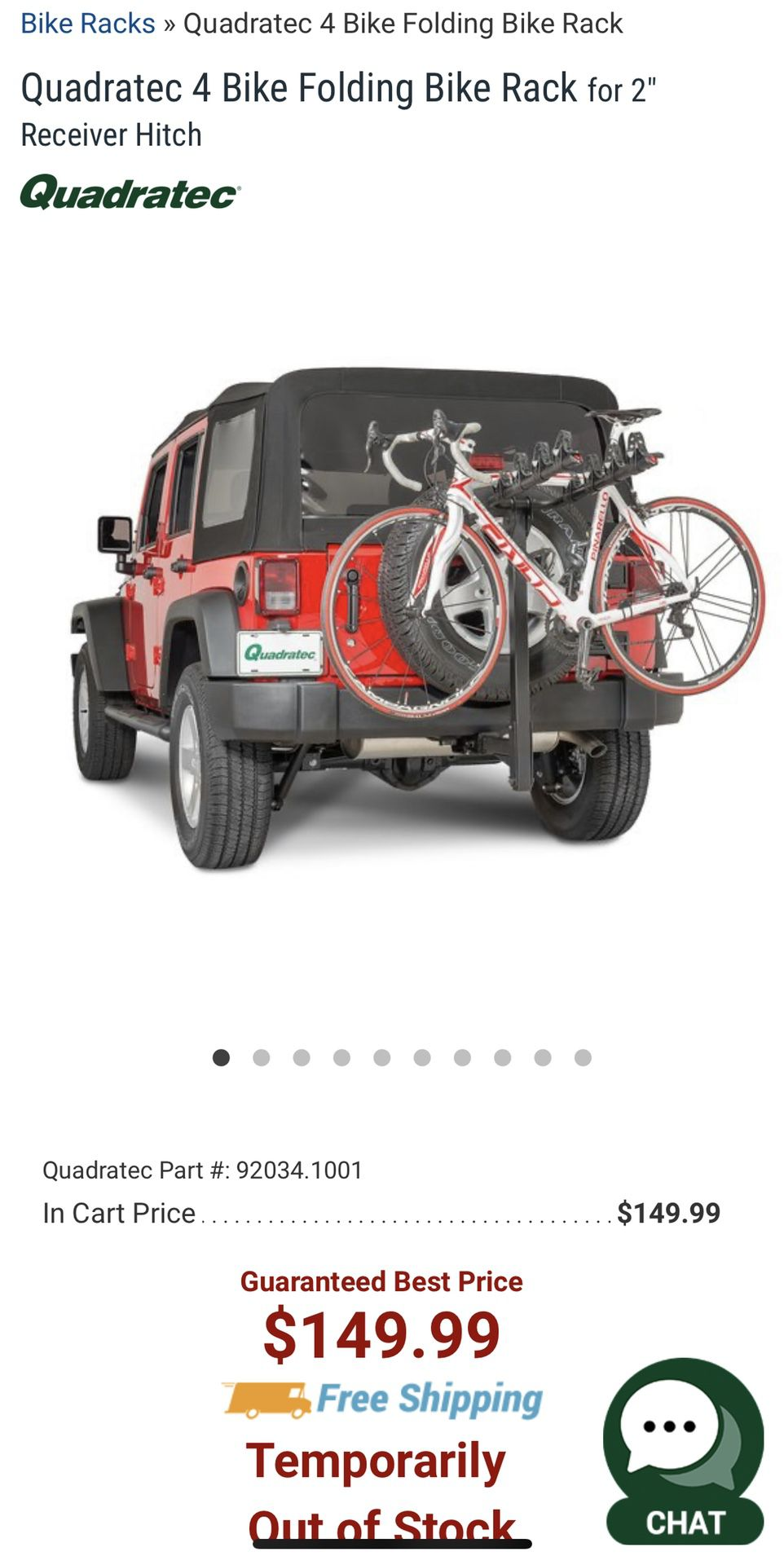 quadratec 2 bike platform rack for 2