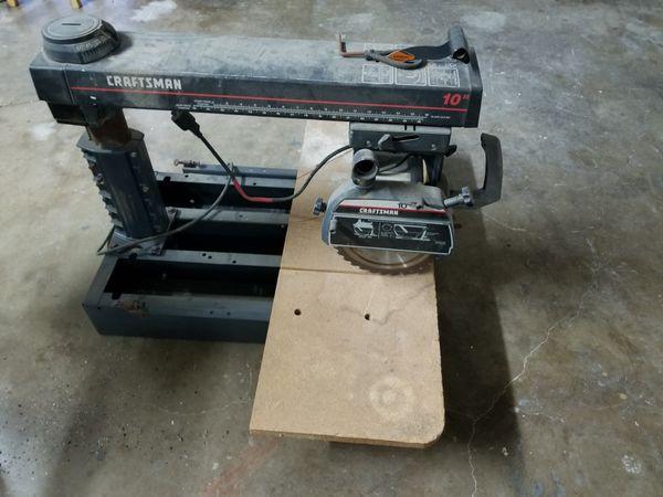 Craftsman 10 Radial Arm Saw 25 Hp
