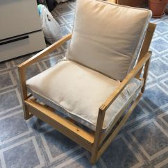 Ikea Recliner Chairs Sale Simple Wooden Chair Reclining With Pottery Barn Cushions For In Chicago