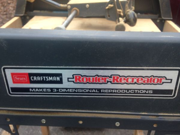Craftsman Router Recreator For Sale