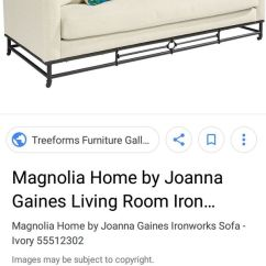 Create Your Own Living Room Set Designs With Leather Sofas Magnolia Home By Joanna Gaines Couch Chair Pillows Wrought Iron Legs Color Design