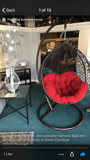 swing chair local wheelchair walker two swivel wide barrel chairs for sale in cape coral fl offerup brand new available different colors free delivery santa cruz