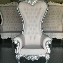How To Make A Queen Throne Chair Cheap Parson Chairs Free Shipping Silver Leaf King Princess Royal Baroque Wedding Event Party Photography Hotel Lounge Boutique Furniture