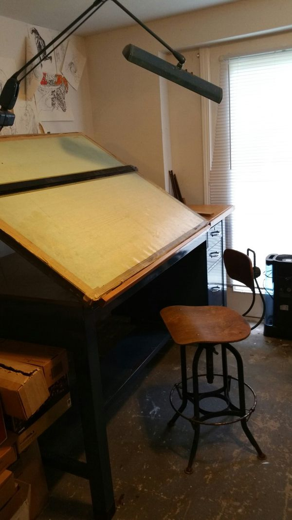 drafting table chairs memory foam kitchen chair pads architect light tilt top straight edge and cloth roll out surface cover