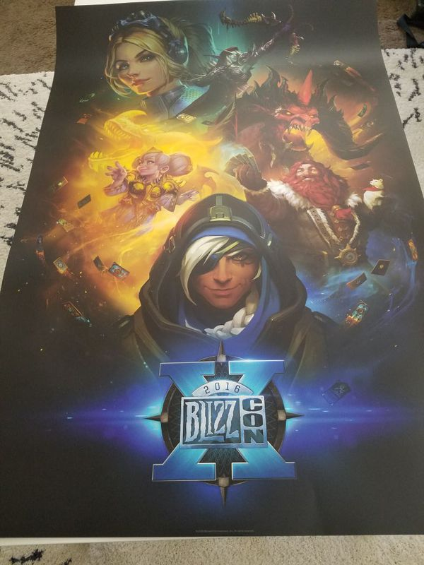 blizzcon 2016 poster collectable