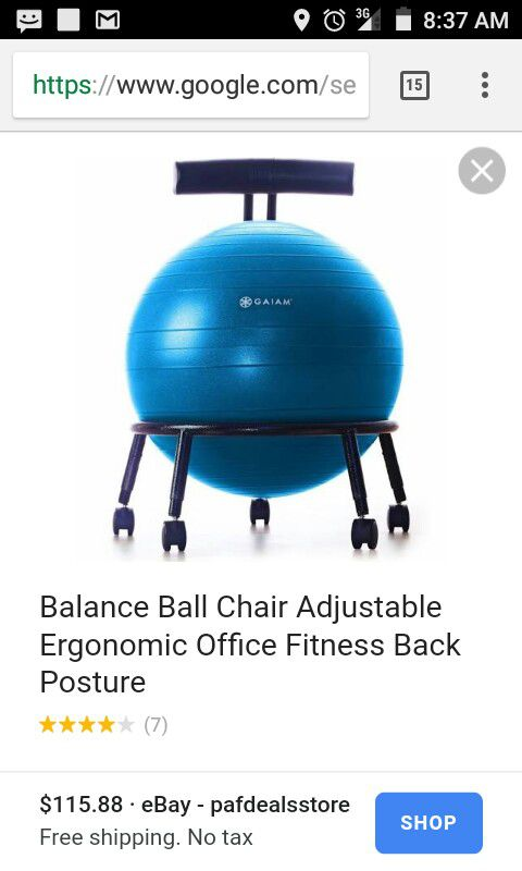 yoga ball office chair sling stacking gaiam for sale in black mountain nc offerup