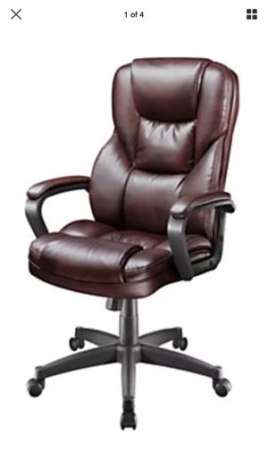 realspace fosner high back bonded leather chair velvet dining chairs australia cabernet for sale in holly springs nc offerup