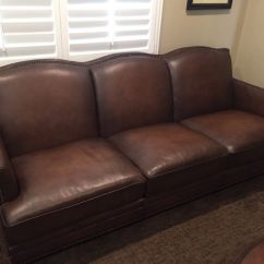 2 Piece Brown Leather Sofa Legacy Sleeper Caterina Top Grain Set New For Sale In
