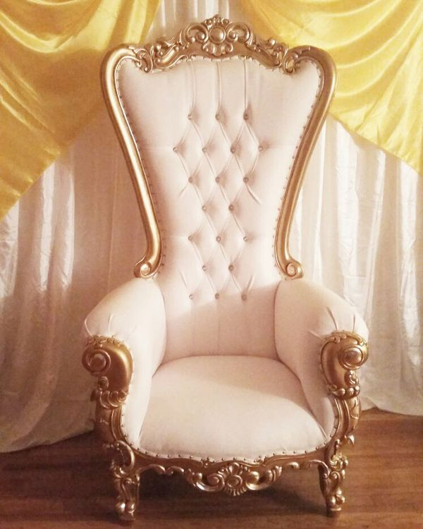 chair cover rentals bronx for two white and gold throne rental sale in ny offerup