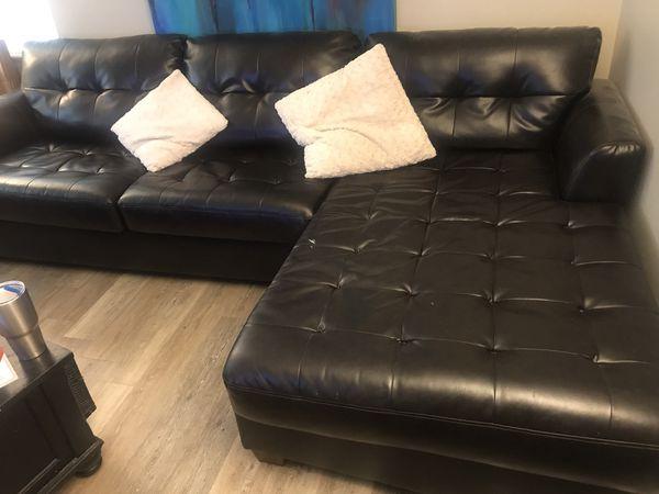 nice dark brown leather sectional sofa