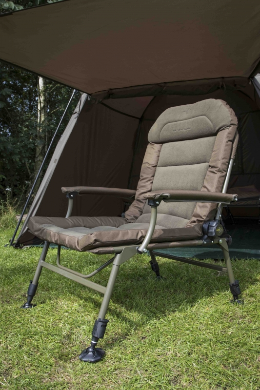 fishing chair with headrest design for debut avid benchmark memory foam | bobco tackle, leeds
