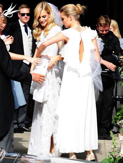 Poppy Delevingne married James Cook today [PA]