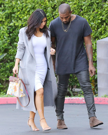 The 34-year-old and husband Kanye West were spotted out and about in Los Angeles [Splash]